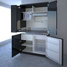 functional mini kitchens small space kitchen unit: black contemporary black high compact kitchen black contemporary