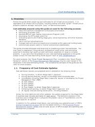 construction cost estimate template 3 templates in pdf cost estimating guide for infrastructure construction