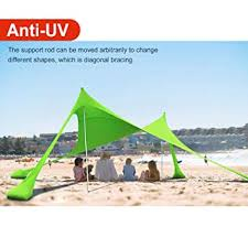 lovebay Tent Beach Tent Sandbags Anchors, SunShade on Beach ...