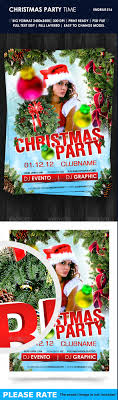 beautiful christmas posters and flyer design templates entheos christmas party time flyer template