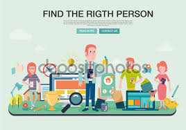 set of flat design concepts for career and business concepts for finding the right people for work life business employee selection big idea in business life concepts