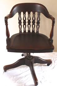 rotating and adjustable original mahogany desk chair from vintage french caned chair vintage american home antique swivel office chair