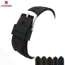 AOOW Generic Watchband Silicone Rubber Watch Strap Bands ...