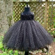 Black flower <b>princess</b> dress <b>sparkle</b> dot <b>tulle tutu</b> dress | Etsy