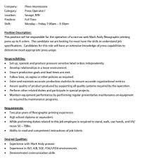 press operator job press description resume ideas file info metal gallery of press operator job description