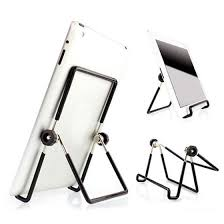 <b>Universal</b> Adjustable <b>Foldable Metal Phone</b> Holder Stand <b>Portable</b> ...
