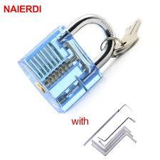 <b>NAIERDI Locksmith</b> Wrench Tool <b>Lock</b> Pick Transparent Visible ...