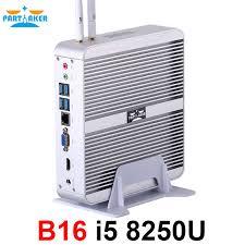 <b>Partaker I3 Industrial PC</b> Intel Core i5 8250U 2 RS232 COM Fanless ...
