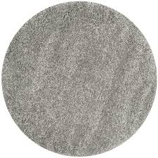 safavieh california shag silver round indoor machine made area rug common 4 x california shag black 4 ft