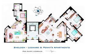 Artist Sketches the Floor Plans of Popular TV Homes    Design    floor plans photo