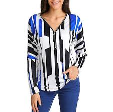 Womens Casual <b>Camouflage Color Block</b> Long Sleeve <b>Pullover</b> ...