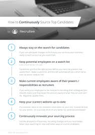 5 proven methods to improve talent sourcing recruitee blog recruitee talent sourcing checklist