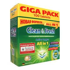 <b>Таблетки для</b> посудомоечных машин Clean&Fresh All in 1 (giga ...