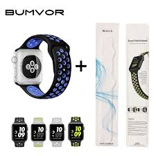 <b>BUMVOR</b> Hot Sale Sport <b>Silicone Band Strap for</b> Apple Watch 40/44 ...