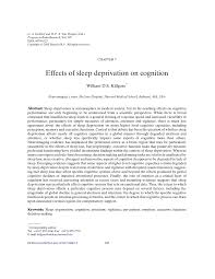 effects of sleep deprivation on cognition pdf available