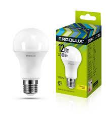<b>Светодиодная лампа Ergolux LED</b>-<b>A60</b>-<b>12W</b>-E27-3K ...