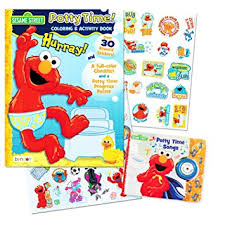 Amazon.com : Sesame Street Elmo Potty Training Book Set -- 2 Books ...