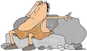 Image result for cartoon illustration of a man carring stones