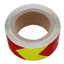 <b>5cmX10m</b> Arrow Lattice <b>Reflective Tape</b> Sticker Safety Warning for ...