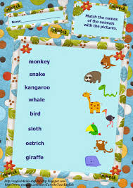 i can action verbs song for kids flashcards and worksheets wild animals action verbs matching words and pictures vocabulary worksheet