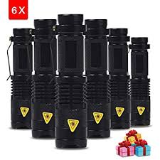 Buy Generic 6PCS/LOT <b>SK68 CREE XPE Q5</b> LED Mini Flashlight ...