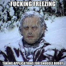 Fucking Freezing Taking applications for snuggle buddy - Frozen ... via Relatably.com