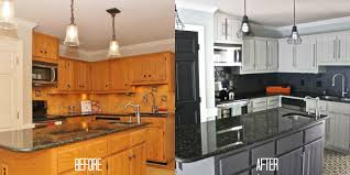 Paint Grade Cabinets Refinishing Kitchen Cabinets Before And After House Decor