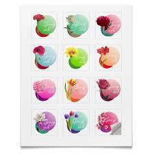 Наклейки квадратные 5x5см Коллекция <b>Цветы</b> #2819553 ...