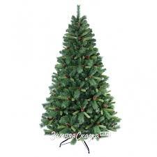 Искусственная <b>елка Мендоза</b> с шишками 244 cм, ЛЕСКА + ПВХ ...