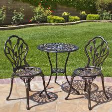 comfortable patio chairs aluminum chair: best choice products outdoor patio furniture tulip design cast aluminum bistro set in antique