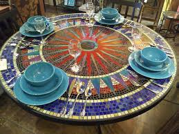 sun mosaic table  elegant mosaic patio table  images about patio mosaic on pinterest an