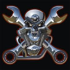 ᐈ <b>Skeleton motorcycle</b> tattoo stock vectors, Royalty Free <b>skull</b> ...