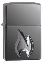 <b>Зажигалка</b> ZIPPO <b>Armor</b> High Polish Black Ice <b>Flame Design</b> ...