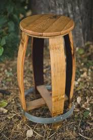 barrel top stool with cooperage stamp natural stain from alpine wine design alpine wine design outdoor