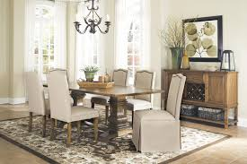 dining table parson chairs interior: coaster parkins  piece dining table and parson skirted chair set coaster fine furniture