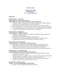 claims adjuster resume template claims adjuster resume