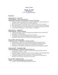 claims adjuster resume sample resumesdesign com claims claims adjuster resume sample resumesdesign com claims adjuster