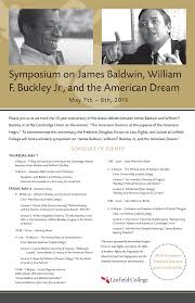 events college symposium on james baldwin william f buckley jr and the american dream