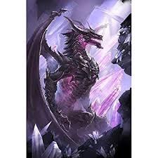 DIY 5D Diamond Painting Kit Full Purple Dinosaur ... - Amazon.com
