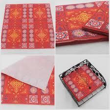 2019 Muslim <b>Colour Printing Napkins</b> Red <b>Color</b> Square Virgin ...
