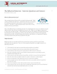 best photos of behavioral interview questions examples of behavioral interview questions and answers