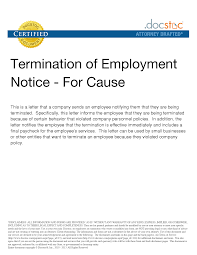 10 best images of employment notice letter employment employee termination of employment notice letter