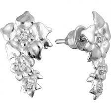 <b>Золотые серьги бабочки</b> с фианитами фото Ювелирные изделия