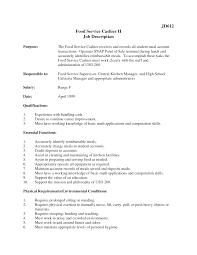 fast food cashier job description resumes template fast food cashier job description resumes