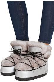 <b>Moon Boot</b> | + <b>Jimmy</b> Choo MB Buzz shearling and shell snow boots ...