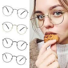 <b>Unisex Fashion Classic Gold</b> Metal Frame Glasses women men ...