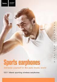 <b>Hoco HOCO</b> Sport Bluetooth Earphone IPX5 waterproof Wireless ...