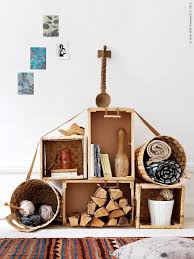 rustic style living room clever: crates are perfect to create rough looking rustic modular storage systems besides