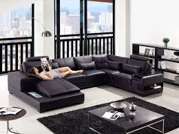 Of Living Rooms With Black Leather Furniture Furniture Black Leather Modern Sofa Ideas For Living Room Modern