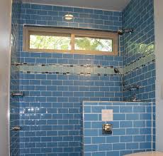 blue bathroom tile ideas: photos hgtv blue glass subway tile in bathroom loversiq